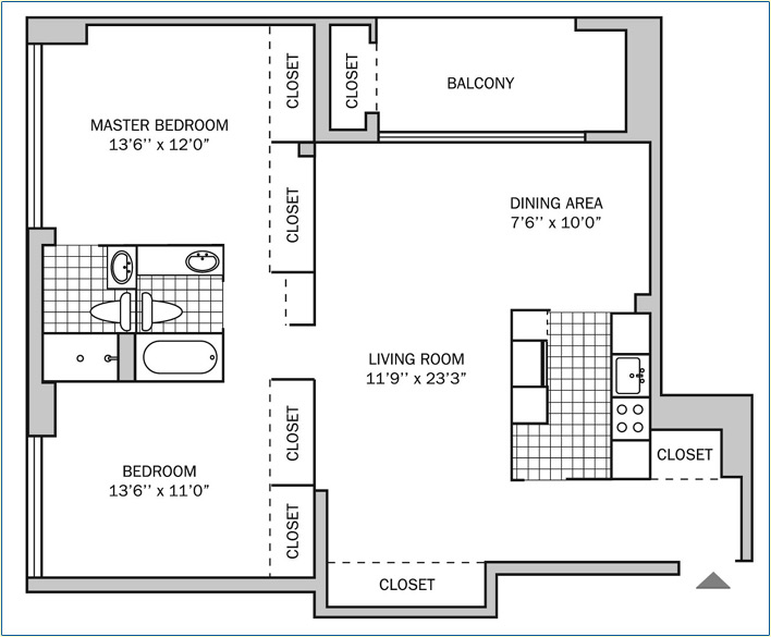 Two Bedroom | Two Bath 1150 sq. ft.