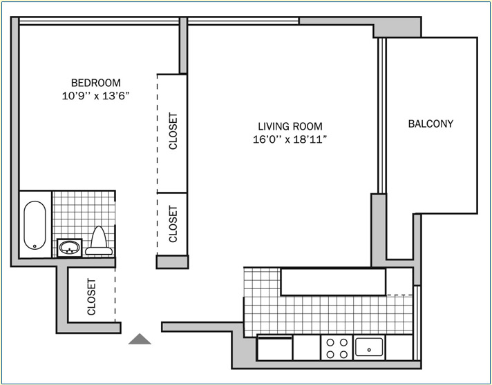 One Bedroom | One Bath 850 sq. ft.