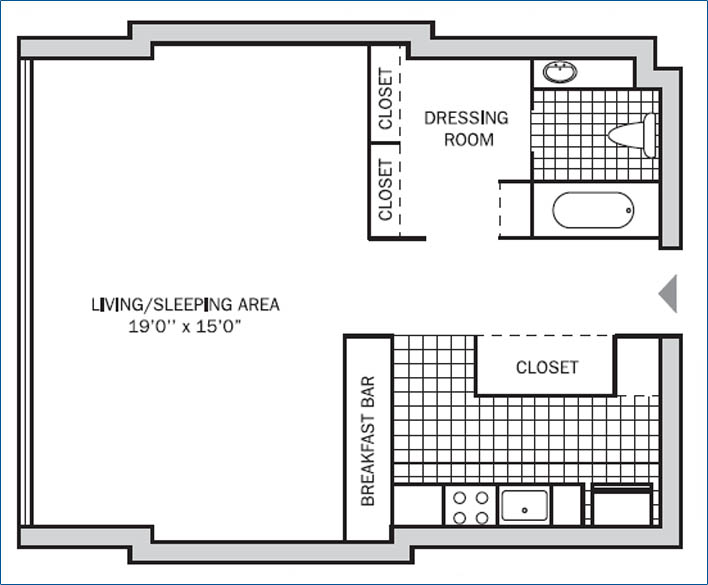 Executive Studio 475 sq. ft.