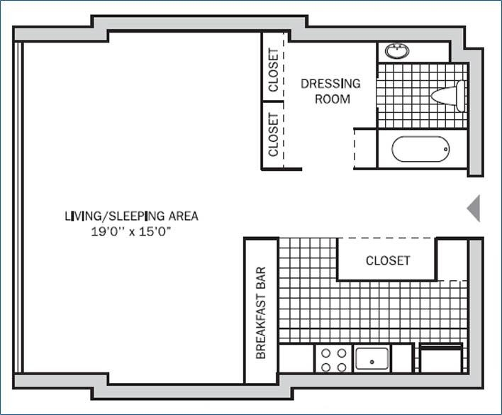Executive Studio 475 sq. ft.